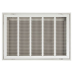 Click here to see Shoemaker FG1-20X20 20x20 Soft White Stamped Face 1-inch Filter Grille (Steel) - Shoemaker FG1