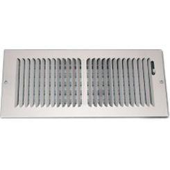Click here to see Shoemaker 850-14X4 14X4 White 2-Way Stamped Vent Cover - Shoemaker 850 Series
