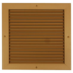 Click here to see Shoemaker 4000-12X4 12X4 Driftwood Tan Single Frame Aluminum Transfer Door Grille (Aluminum) - Shoemaker 4000