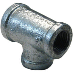 Click here to see Commodity  GALT341212 Galvanized Tee, 3/4 x 1/2 x 1/2 Inch