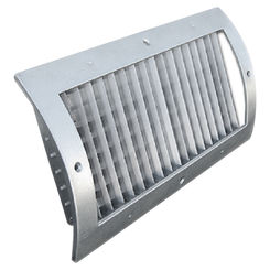 Click here to see Shoemaker RS34-0-14X8G 14X8 White Vent Cover (Galvanized)-Shoemaker RS34-0-GALV Series