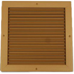 Click here to see Shoemaker 4000-36X22 36X22 Driftwood Tan Single Frame Aluminum Transfer Door Grille (Aluminum) - Shoemaker 4000