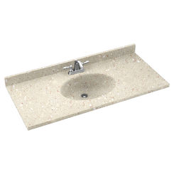 Click here to see Swanstone CH02261.072 Swanstone CH1B2261-072 Chesapeake Pebble Vanity Top
