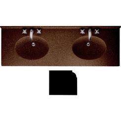 Click here to see Swanstone CH2B2273BD.123 Swanstone CH2B2273BD-123 Chesapeake Bead Edge Acorn Vanity Top