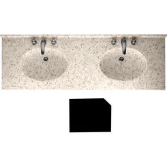Click here to see Swanstone CH2B2273BL.046 Swanstone CH2B2273BL-046 Chesapeake Beveled Edge Almond Galaxy Vanity Top
