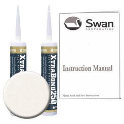 Click here to see Swanstone SS72000.059 Swanstone SS-72-059 Tahiti Ivory Tub Wall Installation Kit