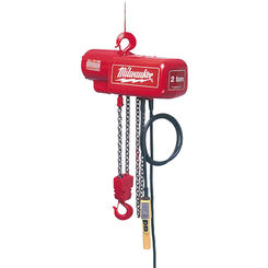 Click here to see Milwaukee 9567 Milwaukee 9567 model 1 Ton Electric Chain Hoist