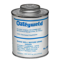 Click here to see Oatey 30810 Oatey 30810 16-Ounce CPE Solvent with Dauber, Clear Liquid