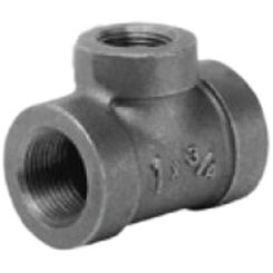 Click here to see Commodity  2 x 1 1/4 x 1 1/4 Black Malleable Iron Tee