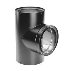 Click here to see M&G DuraVent 8655 DuraVent 6-Inch DVL Double-Wall Black Tee with Clean-out Cap - 8655 - 6DVL-T