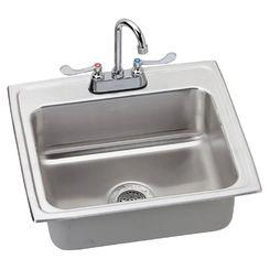 Click here to see Elkay LRAD221955SC Elkay LRAD221955SC Lustertone Stainless Steel Single Bowl Sink Package