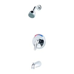 Click here to see Pfister G89-0300 Pfister G89-0300 Pfirst Series One-Handle Tub and Shower Trim - Polished Chrome