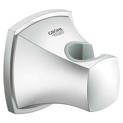 Click here to see Grohe 27969000 GROHE 27969000 Grandera Wall Hand Shower Holder, StarLight Chrome