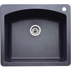 Click here to see Blanco 440210 Blanco 440210 Diamond Silgranit II Dual Mount Single-Bowl Sink (Anthracite)