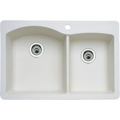 Click here to see Blanco 440217 Blanco 440217 Diamond Silgranit II Dual Mount 1-3/4 Bowl Sink (Biscuit)