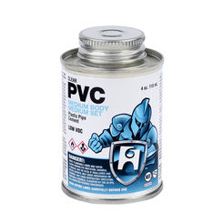 Click here to see Commodity  1/4 Pint PVC Clear Cement