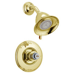 Click here to see Delta T14255-PBLHP Delta T14255-PBLHP Victorian Monitor Shower only Trim: Polished Brass Finish