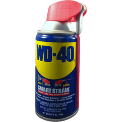 Click here to see WD-40 110054 Smart Straw 110054 General Purpose Lubricant, 8 oz, Aerosol Can, Light Amber, Liquid