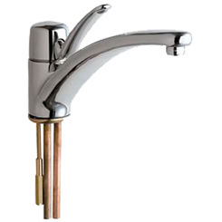 Click here to see Chicago Faucet 2300-E2805ABCP Chicago Faucets 2300-E2805ABCP Single Lever Hot and Cold Water Mixing Sink Faucet