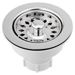 Click here to see Jones Stephens B02400 Jones Stephens B02400 Polished Stainless Sink Basket Strainer