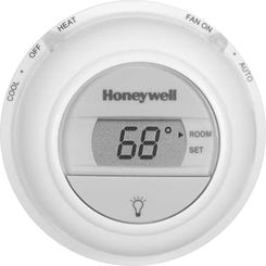 Click here to see Honeywell T8775A1017 Honeywell T8775A1017 1 Heat Single Stage Digital Round Thermostat