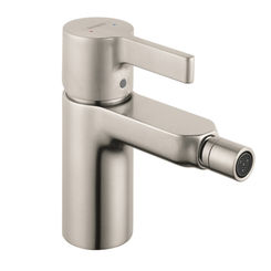 Click here to see Hansgrohe 31261821 Hansgrohe 31261821 Metris Single Hole Bidet Faucet with Lever Metal Handle, 2.2 GPM - Brushed Nickel