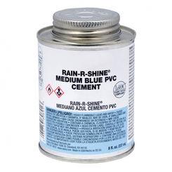 Click here to see Oatey 30891  1/2 Pint (8 Oz.) Rain-R-Shine Medium Blue PVC Cement