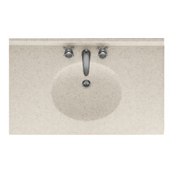 Click here to see Swanstone VT02225.046 Swanstone VT1B2225-046 Ellipse Vanity Top, 25