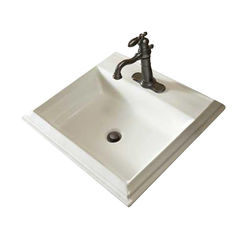 Click here to see Mansfield 254-1-WHT Mansfield Brentwood White 1 Hole Drop In Lavatory Model 254-1-WHT