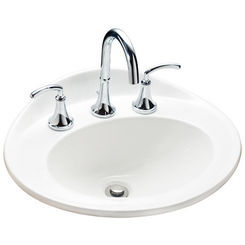 Click here to see Mansfield 259-1-WHT Mansfield Essence White 1 Hole Drop In Lavatory Model 259-1-WHT