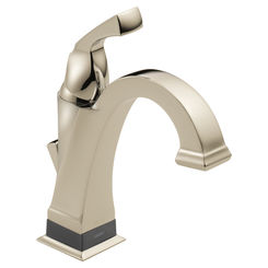 Click here to see Delta 551T-PN-DST Delta 551T-PN-DST Dryden One-Handle Bathroom Faucet with Touch2O Technology