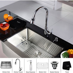 Click here to see Kraus KHF200-30-KPF1621-KSD30CH Kraus KHF200-30-KPF1621-KSD30CH Kitchen Sink And Faucet Combo