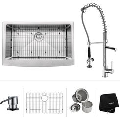 Click here to see Kraus KHF200-33-KPF1612-KSD30CH Kraus KHF200-33-KPF1612-KSD30CH Kitchen Sink And Faucet Combo