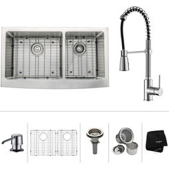 Click here to see Kraus KHF203-36-KPF1612-KSD30CH Kraus KHF203-36-KPF1612-KSD30CH Kitchen Sink And Faucet Combo