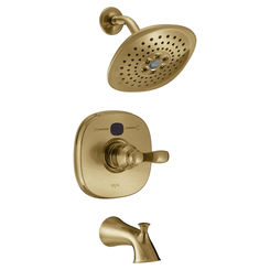 Click here to see Delta T14403-CZT2O Delta T14403-CZT2O Transitional 14 Series Temp2O Tub & Shower Trim, Champagne Bronze