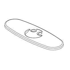 Click here to see Delta RP78359SS Delta RP78359SS Trinsic Oval-Shaped 3-Hole Escutcheon and Gasket, Stainless