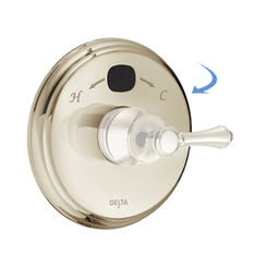 Click here to see Delta RP78573PN Delta RP78573PN Round-Shaped Valve Escutcheon, Polished Nickel