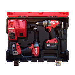 Click here to see Milwaukee 2897-22 Milwaukee 2797-22 Cordless 2-Tool Combo Kit, 18 V