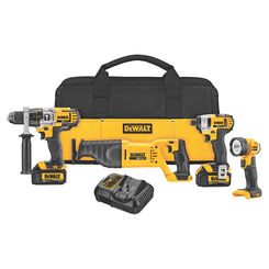 Click here to see Dewalt DCK490L2 Dewalt DCK490L2 Combo Kit, 10 Pieces, 20 V Li-Ion, 3 Ah
