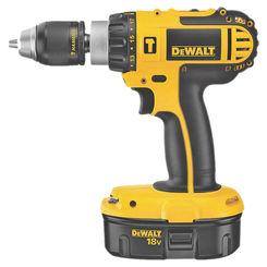 Click here to see Dewalt DC725KA Dewalt DC725KA Compact Heavy Duty Hammer Drill Kit, 18 V, Ni-Cd, 1/2in