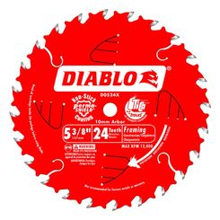 Click here to see Diablo D0524X Diablo D0524X 5-3/8-Inch 24T Trim Saw Blade