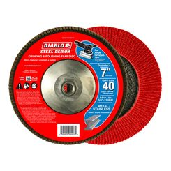 Click here to see Diablo DCX070040B01F Diablo DCX070040B01F 7-Inch 40-Grit Steel Flap Disc