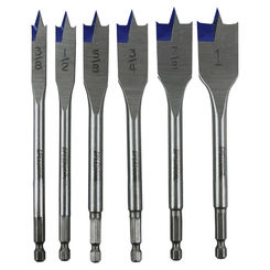 Click here to see Irwin 88886 Speedbor 88886 Wood Boring Spade Bit Set, 6 Pieces, 3/8 - 1 in