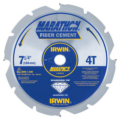 Click here to see Irwin 4935473 Marathon 4935473 Circular Saw Blade, 7-1/4 in Dia, 4 Teeth, 5/8 in Arbor