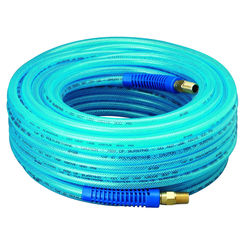 Click here to see Plews 12-100E Plews 12-100E Air Hose, 1/4 in x 100 ft, MNPT, 300 psi, Polyurethane
