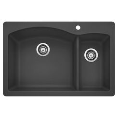 Click here to see Blanco 441464 Blanco 441464 Diamond Dual Mount Double-Bowl Kitchen Sink - Cinder