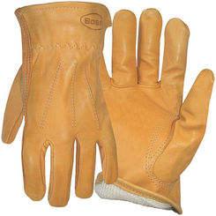 Click here to see Boss 6133M Boss 6133M Protective Gloves, Medium, Premium Grain Leather, Gold, Cotton Thermal Lining