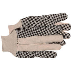 Click here to see Boss 4011 Boss Mfg 4011 Gloves, Cotton, 8 Oz Cotton, PVC Dotted, Large