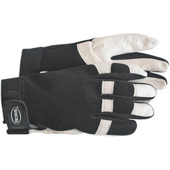 Click here to see Boss 4047L Guard 4047L Medium Duty Protective Gloves, Large, Flexible Spandex Back, Gold