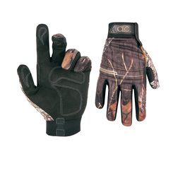 Click here to see CLC M125X Backcountry Sportsman High Dexterity Work Gloves, X-Large, 96% Polyester Shell/4% Spandex Back, Mossy Oak Camo